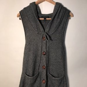 BANANA REPUBLIC Lambs wool button up sweater vest